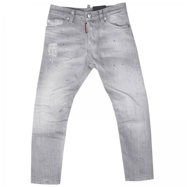 Jeans bambino dsquared2 junior grigio kenny jean denim for Raumgestaltung jean grigo