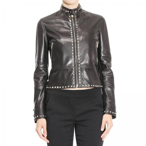 Veste Femme Valentino Noir   Blouson Pour Femme Valentino   Veste Valentino  Lb3na01v 1ym - Giglio FR d6beef909dd