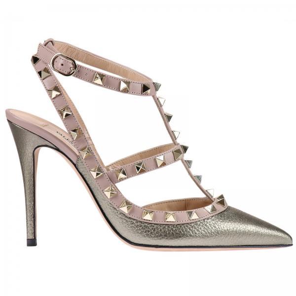 Scarpe con tacco Donna Valentino Garavani Platino  d97ab9720de