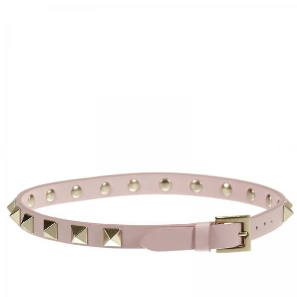 Rockstud double bracelet in leather with metal studs
