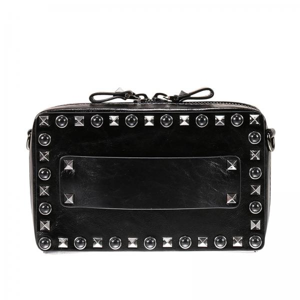 Guitar rockstud rolling noir satchel with studs and stones
