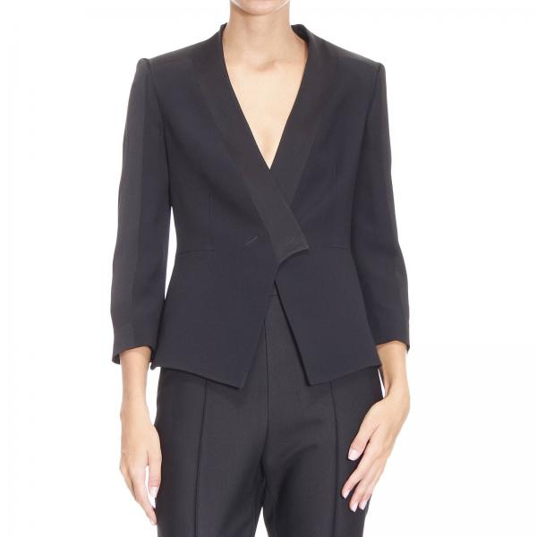 Blazer Suit Design | Emporio Armani Women S Black Blazer Suit Jacket Woman Emporio