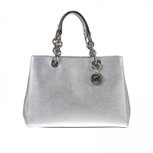 f0602a2ae498e Michael Michael Kors Women s Silver Shoulder Bag