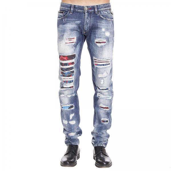 philipp plein men 39 s denim jeans jeans man philipp plein. Black Bedroom Furniture Sets. Home Design Ideas