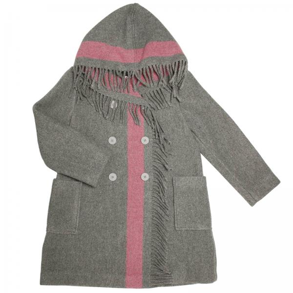 Coat Little Girl Il Gufo