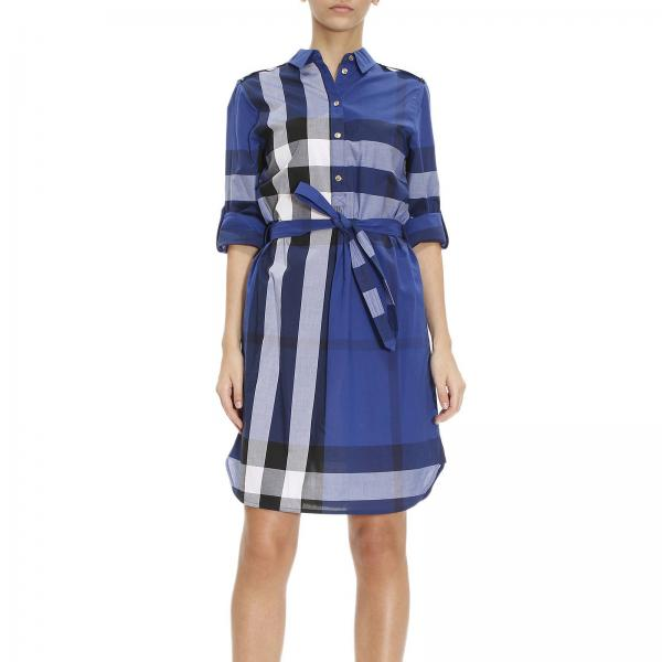 Burberry Women S Blue Dress Dress Women Burberry Burberry Dress