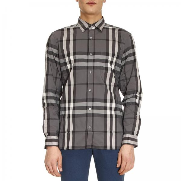 d3e520e189fd Burberry Men s Grey Shirt