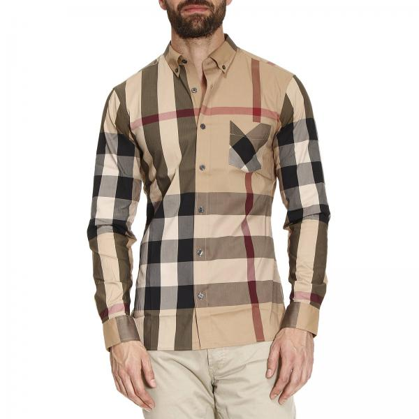 Chemise Homme Burberry Beige   Chemise Homme Burberry   Chemise ... d3c78ce59eb1