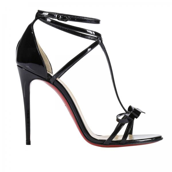 louboutin sandals nero