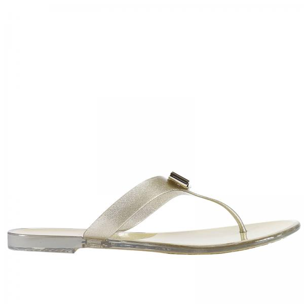 e86b74772 Salvatore Ferragamo Women s Gold Flat Sandals