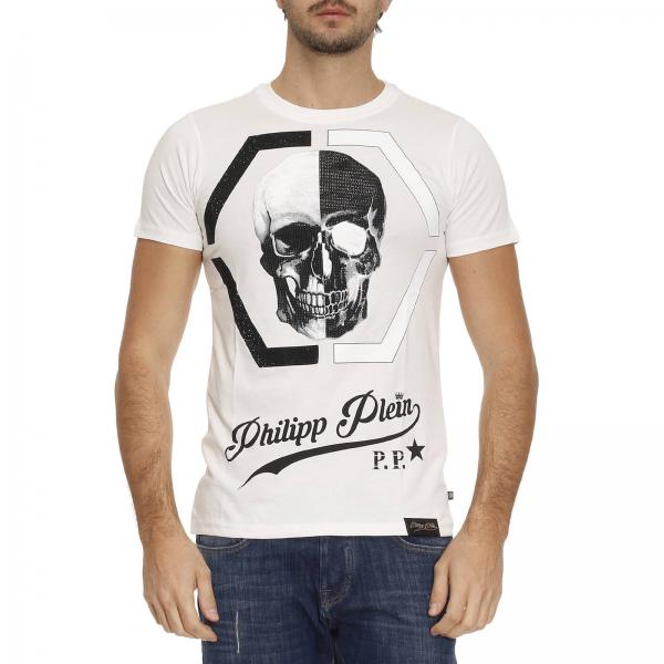 Philipp Plein Men's White T-shirt   T-shirt Men Philipp Plein   Philipp  Plein T-shirt Mtk0094 Pjy002n - Giglio EN