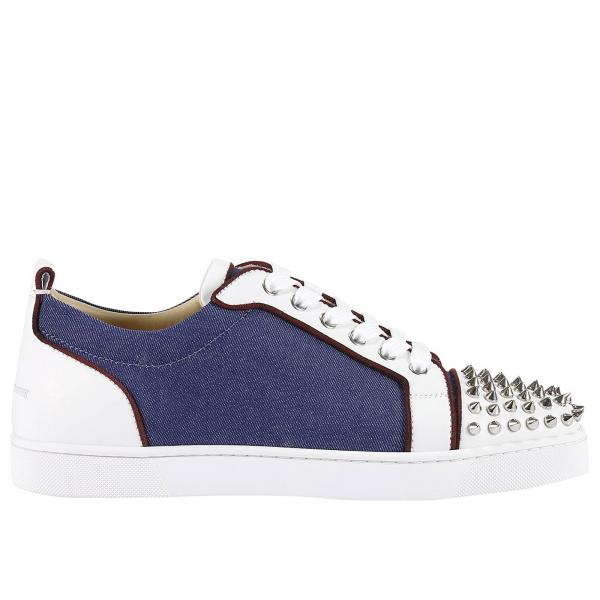 info for 8014b b1322 cheap christian louboutin mens blue sneakers afe92 af1e5