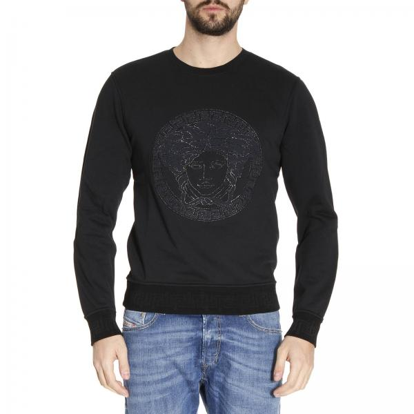 Versace Men S Black Sweater Sweater Men Versace
