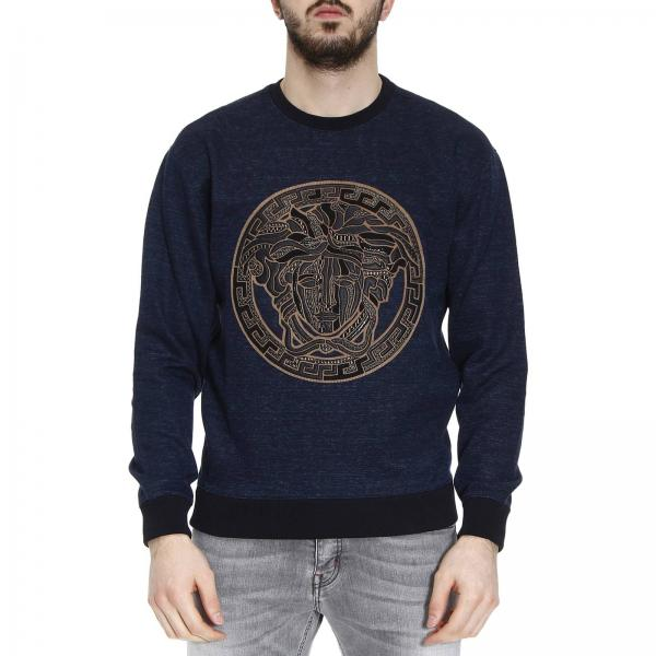 Sweater Men Versace Blue