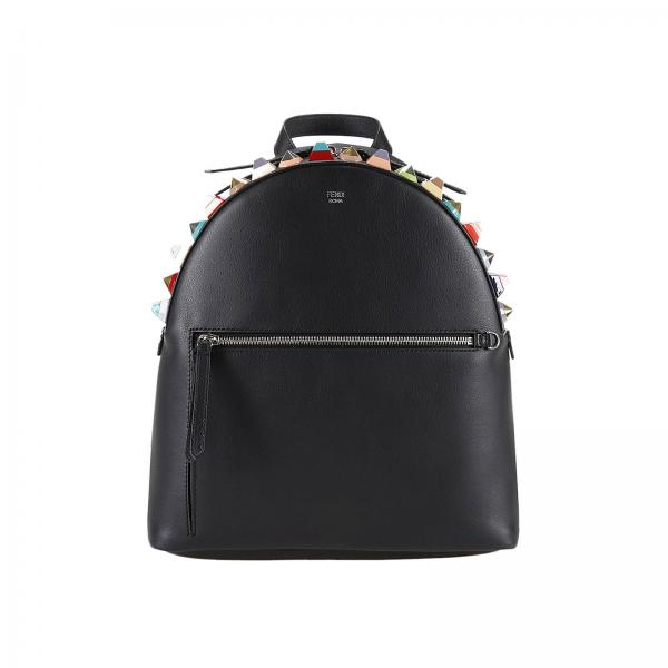 Fendi Womens Black Backpack Handbag Women Fendi Fendi Backpack - Porte clé fendi