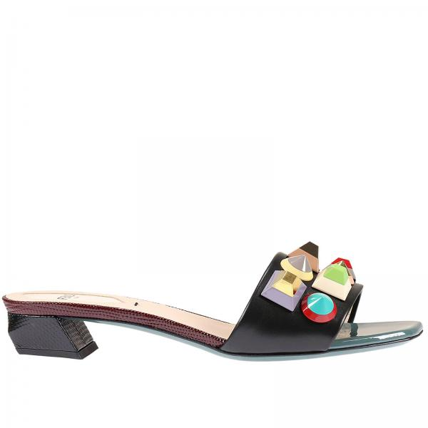 32aa6bd1702a Flat Sandals Women Fendi Black