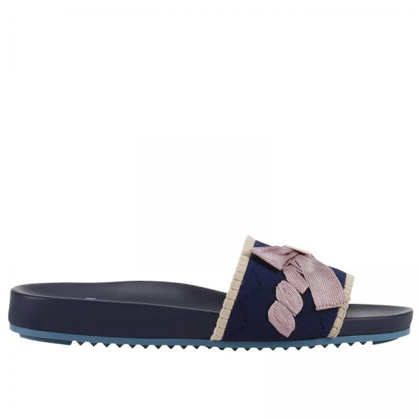bc003ed86f7 Fendi Women s Blue Flat Sandals