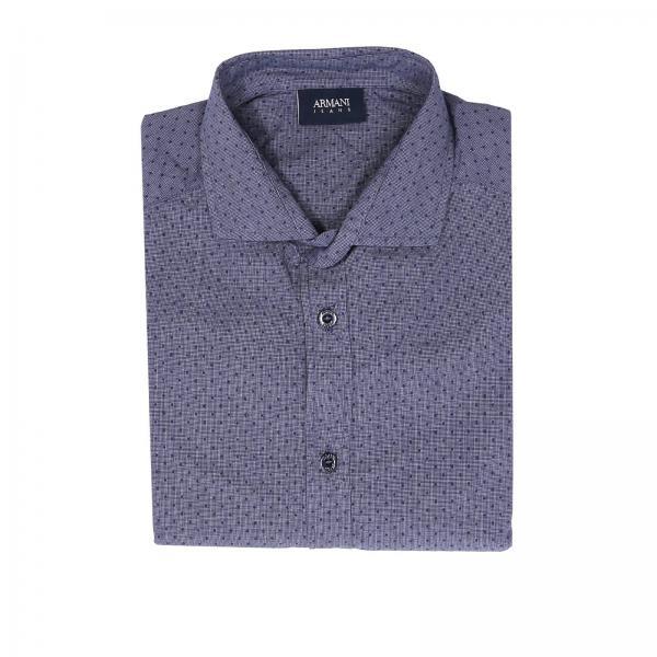 new arrival 7b2c6 9da91 Camicia custom fit in puro cotone con motivo a pois in rilievo