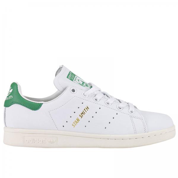 Sneakers Donna Adidas Originals Bianco | Stan Smith Original Tallone Verde | Sneakers Adidas S75074 - Giglio IT