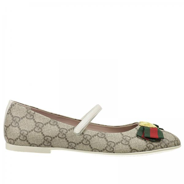 d254ba534bbb Shoes little girl Gucci Beige