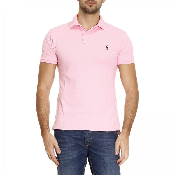 T-shirt Homme Polo Ralph Lauren Rose   T-shirt Homme Polo Ralph ... 0af1d2c1be4
