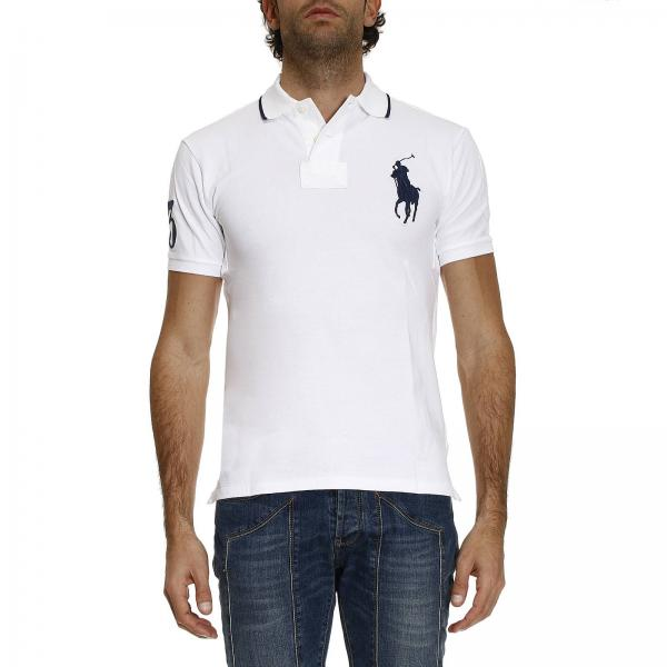 BiancoMezza D'ape Polo Ralph Uomo T Lauren Manica Shirt Nido MVqSUpGz