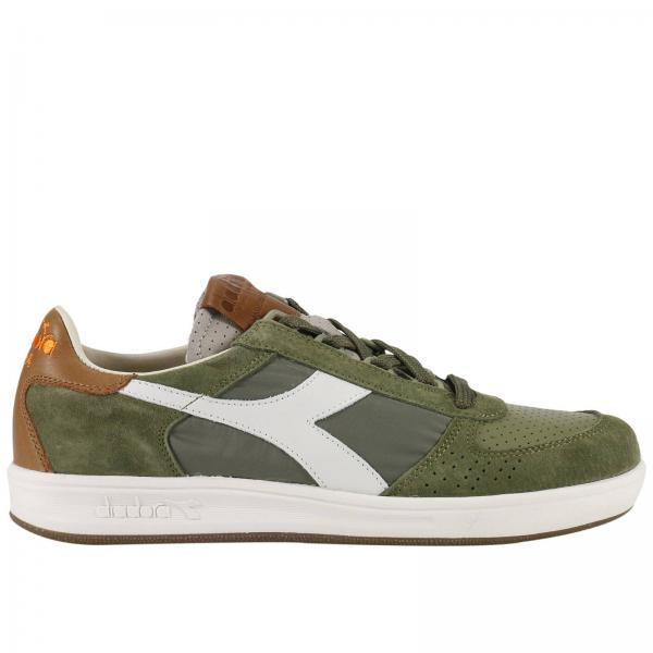 sneakers uomo diadora heritage b.elite camoscio verde 4yzaz