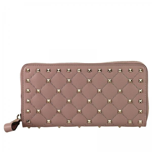 Rockstud Continental Spike Wallet with zip closure and metal studs
