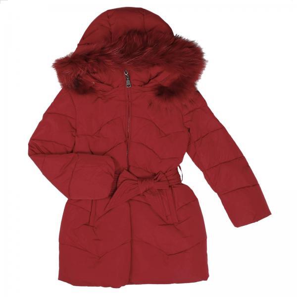 on sale c8d0b 8cd25 Piumino lungo con cappuccio e bordi di pelliccia removibili