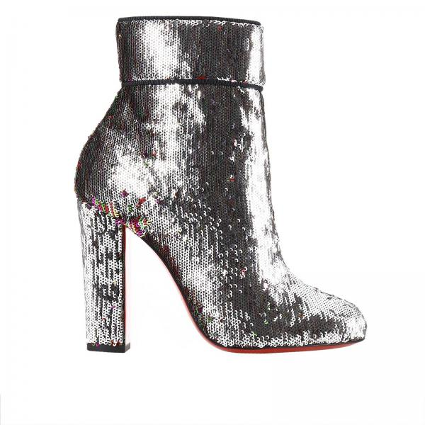 louboutin boots Argento