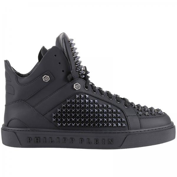 sneakers f r herren philipp plein schwarz sneakers. Black Bedroom Furniture Sets. Home Design Ideas
