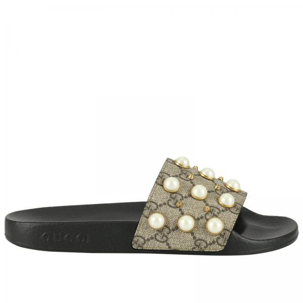 Gucci Women S Beige Flat Sandals Shoes Women Gucci Gucci Flat