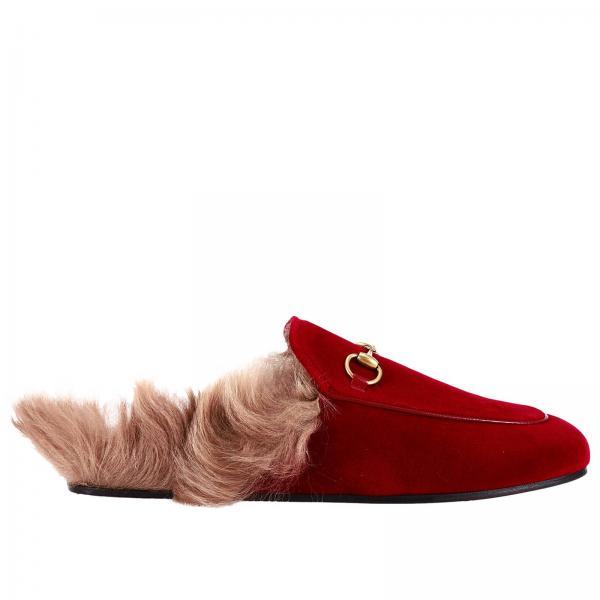 Gucci Women s Red Ballet Flats  ecb30fba6c