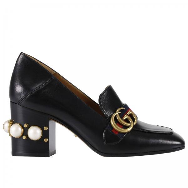 scarpe gucci tacco perle