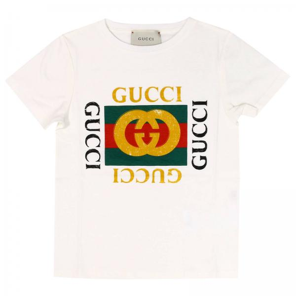 t shirt f r jungen gucci t shirt gucci 475740 x3g17. Black Bedroom Furniture Sets. Home Design Ideas