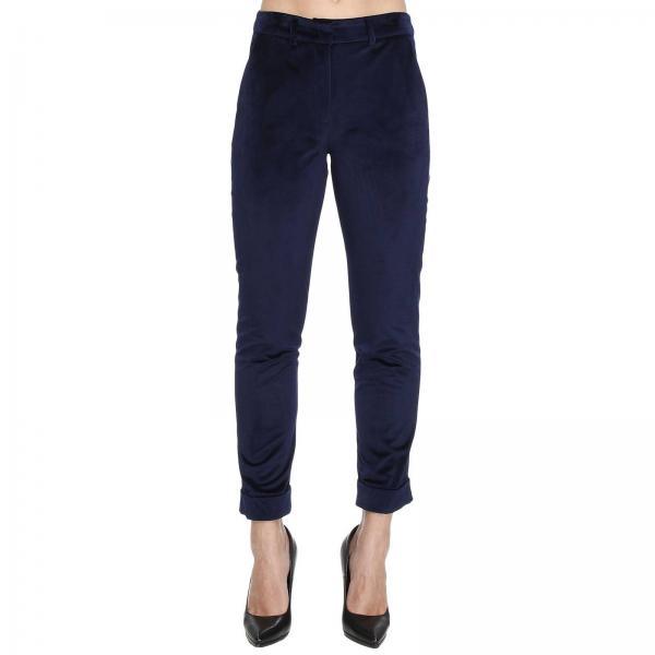 Pantalone in velluto liscio con tasche america