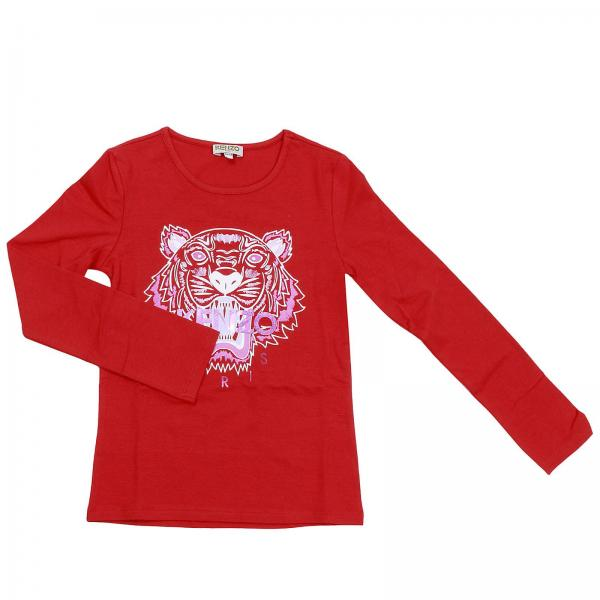 bfe489e2501 T-shirt fille Kenzo Junior Rouge
