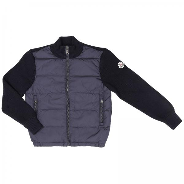 Jumper little boy Moncler Blue | Jumper Kids Moncler Junior | Jumper Moncler 95494052 95098 - Giglio UK