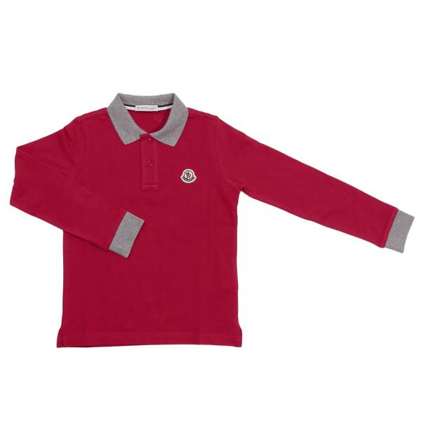 Moncler Little Boy's Red T-shirt | T-shirt Kids Moncler Junior | Moncler T- shirt 95483077 84632 - Giglio EN