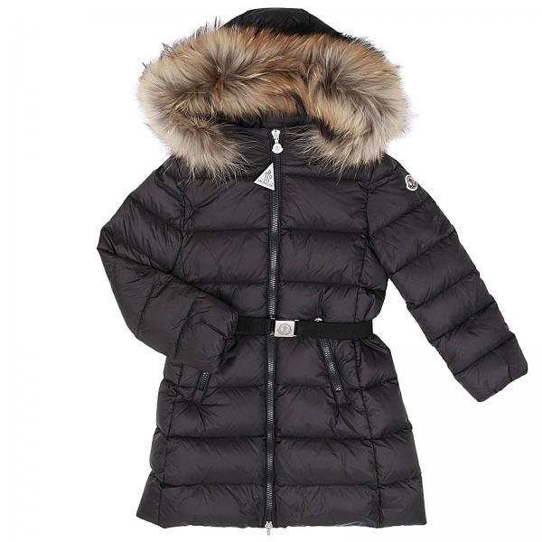 buy popular 9b56b dd426 Piumino dorist lungo con maxi cappuccio con bordi di pelliccia