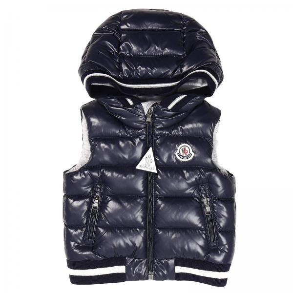Moncler Baby's Blue Jacket | Jacket Kids Moncler Baby | Moncler Jacket 95143349 68950 - Giglio EN