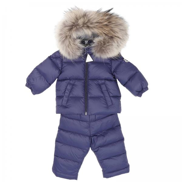 Moncler Baby's Blue Tracksuit | Tracksuit Kids Moncler Baby | Moncler Tracksuit 95170335 53079 - Giglio EN