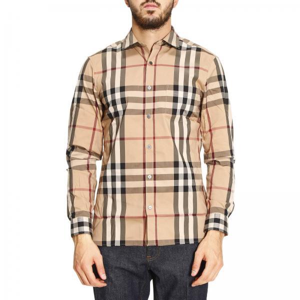 vendita calda online 281c5 7fa0a Camicia nelson in misto cotone con collo italiano e motivo check