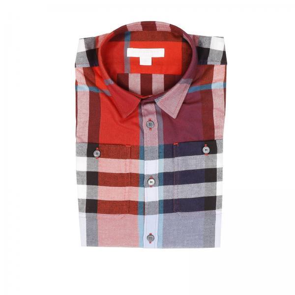 Burberry Little Boy s Burgundy Shirt  deef67745