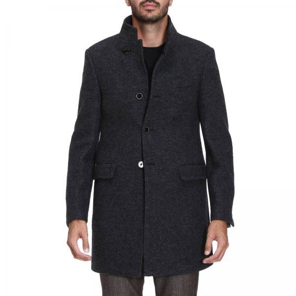 Cappotto duty in panno di misto lana vergine con singolo gancio fay
