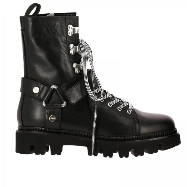 50fbae263e8 Paciotti 4us Women's Black Flat Booties | Shoes Women Paciotti 4us ...
