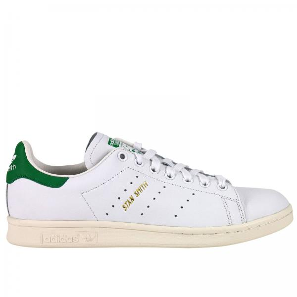 Sneakers Uomo Adidas Originals Bianco | Sneaker Stan Smith Originals In Pelle Martellata E Rinforzo Sul Tallone | Sneakers Adidas S75074 - Giglio IT