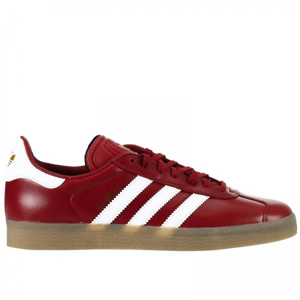 Sneakers Uomo Adidas Originals Bordeaux | Sneaker Gazelle Originals In Pelle Con Strisce A Contrasto E Logo Impresso | Sneakers Adidas Bz0025 - Giglio IT