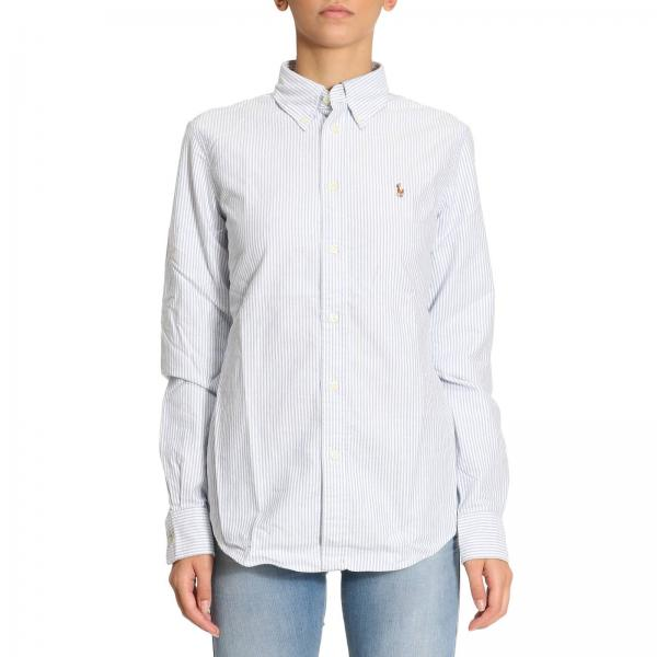 Shirt Women Polo Ralph Lauren Gnawed blue