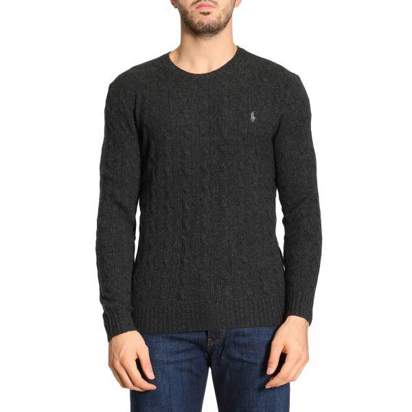 limited guantity cheap price new specials Maglia a girocollo in lana e cashmere con motivo a treccia cable e logo  ricamato
